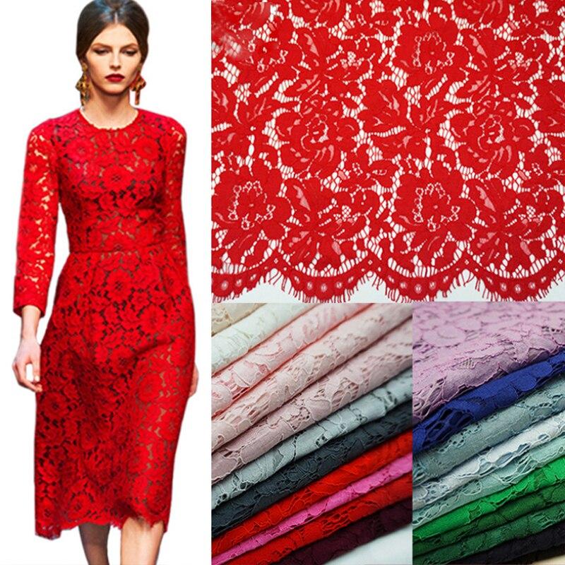 1.5*1.5 metros bordado cílios algodão tecido de renda cabo francês rendas pano guipure africano nigeriano renda para festa casamento vestido