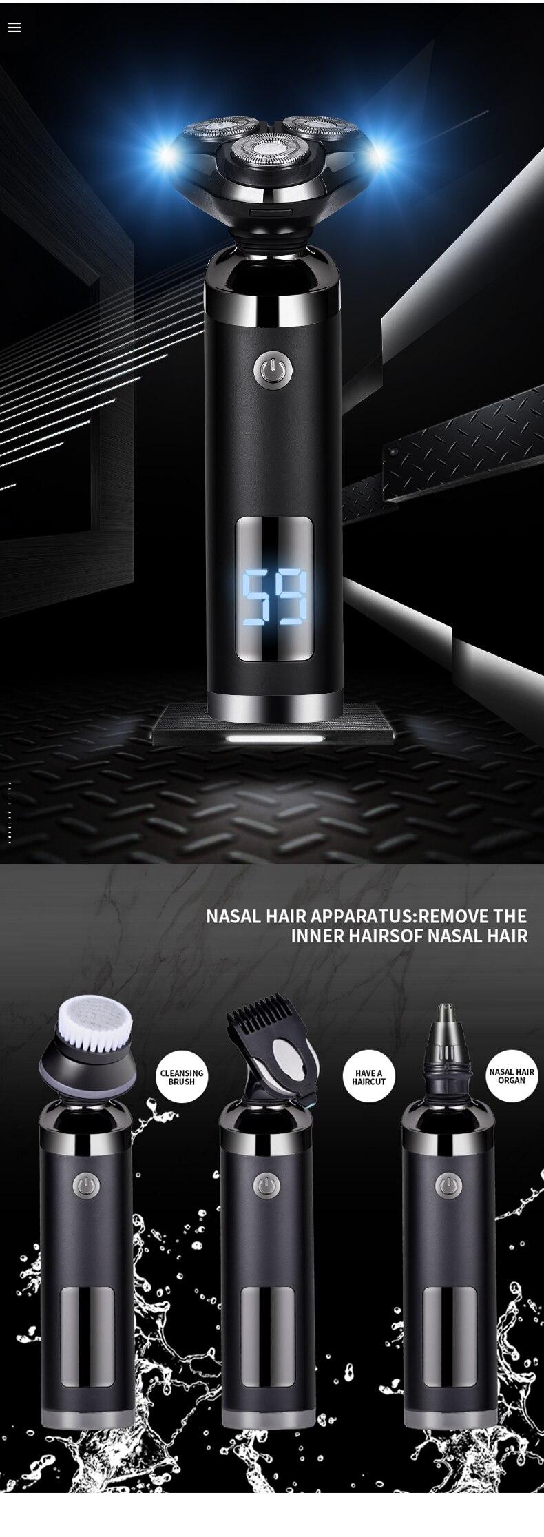 Novo barbeador elétrico saengq cabeças flutuantes máquina