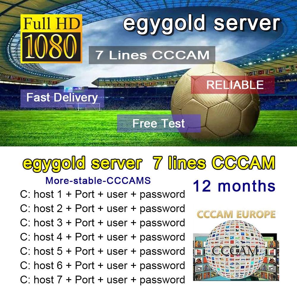 Europe HD 1 Year CCCam Spain Portugal Germany Oscam Poland Satellite Tv Receiver Cccam Egygold Server