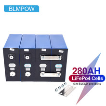 NEW 4pcs 3.2v 280ah Lifepo4 Rechargeable Battery Lithium Iron Phosphate Solar Cell 12v 24v 280ah Grade A Lifepo4 Cell Tax Free
