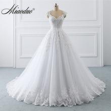 Wedding Dresses Ball Gown Lace Appliques Beading Plus Size Bride Gowns Cap Sleeve vestido branco vestidos de novia 2020