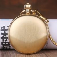 Steampunk Skeleton Mechanical Pocket Watches Men Antique Luxury Brand Hand Wind Necklace Pocket & Fob Watch Chain Gold