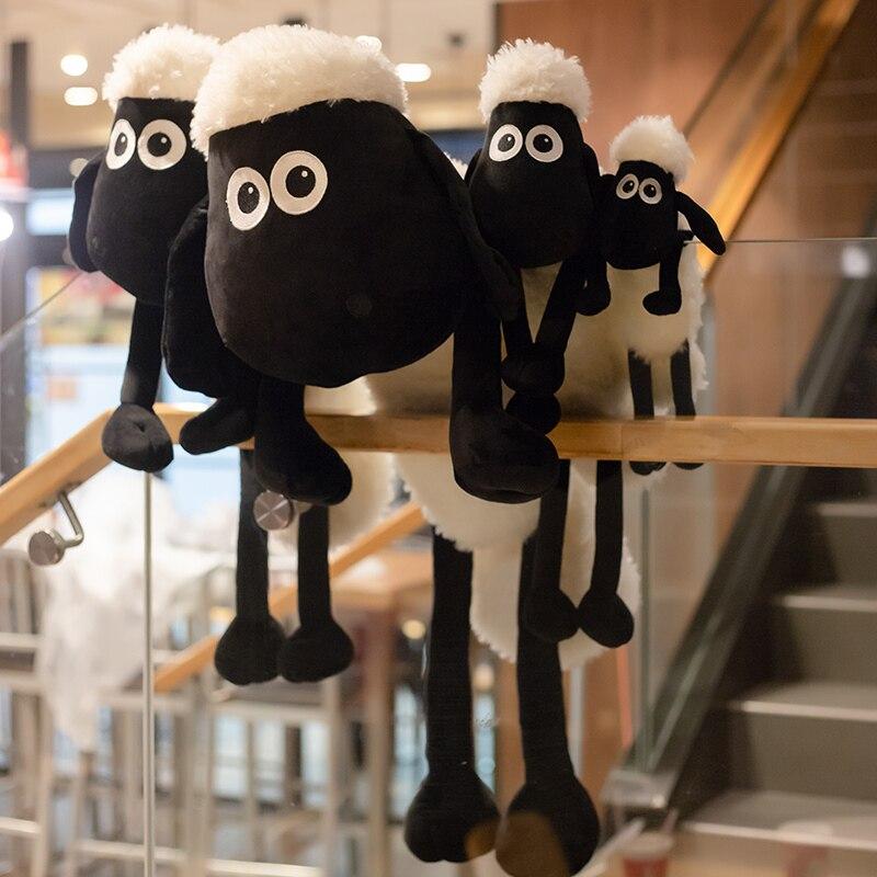 40/60/80/110cm Animal Sean Sheep Plush Stuffed Toy Kawaii Sheep Plush Toys Cushion Pillow Room Decoration Gift For Baby Children