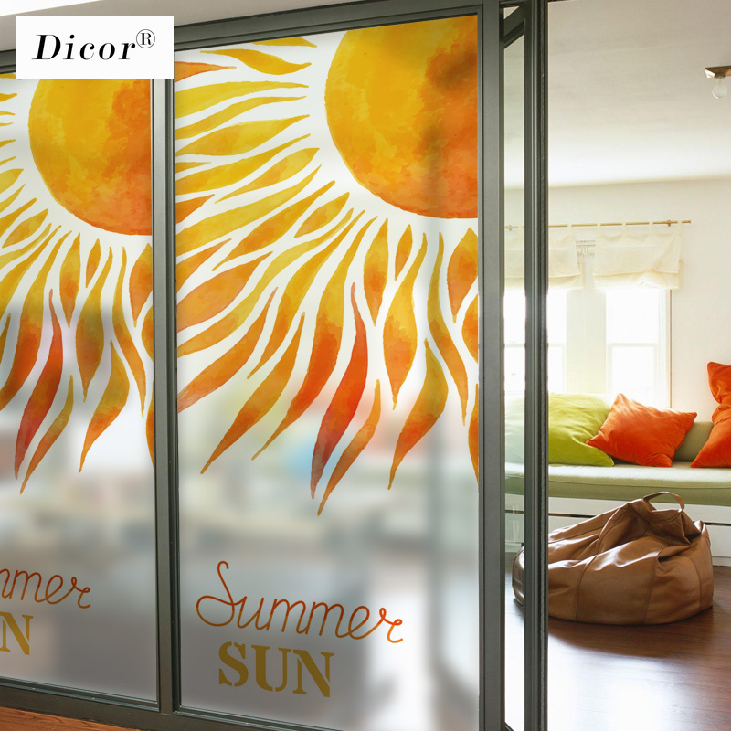 RED ORANGE LEAF STAINED PRIVACY GLASS STICKY BACK VINYL FILM WINDOW STATIC CLING