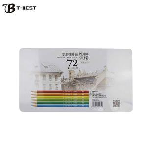Image 1 - Профессиональные 72 цветные карандаши для карандашей, Набор Предварительно заточенных водорастворимых цветных карандашей с кистью, защитная коробка для хранения