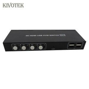 Image 3 - 4K HDMI USB KVM Switch Switcher Adattatore 4x1 3D Full HD 1080P Usb Hdmi Connettore Femmina per PC Del Computer Portatile DVD PS3 HDTV Spedizione Gratuita