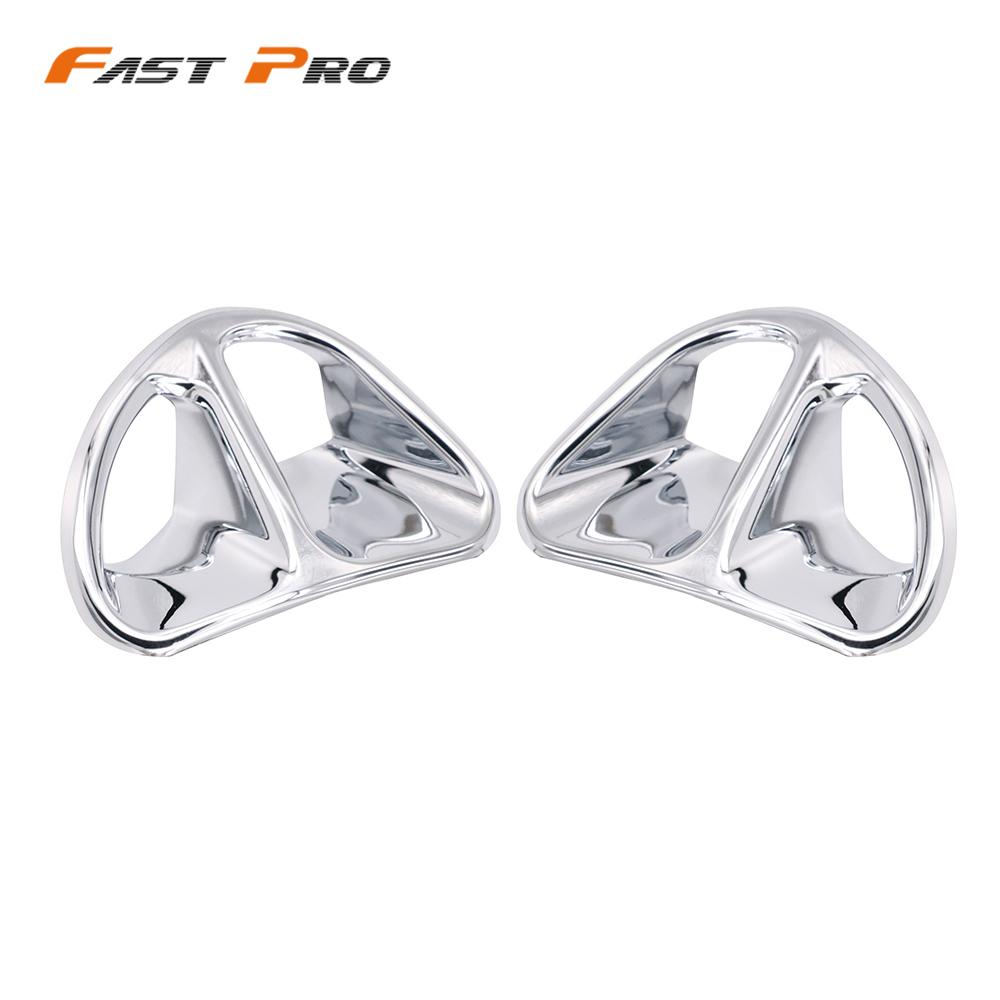 Motorcycle Chrome Fairing Air Intake Accents Grilles For <font><b>Honda</b></font> Goldwing <font><b>Gold</b></font> <font><b>Wing</b></font> GL1800 <font><b>GL</b></font> <font><b>1800</b></font> 2001-2010 2002 2003 2004 2005 image