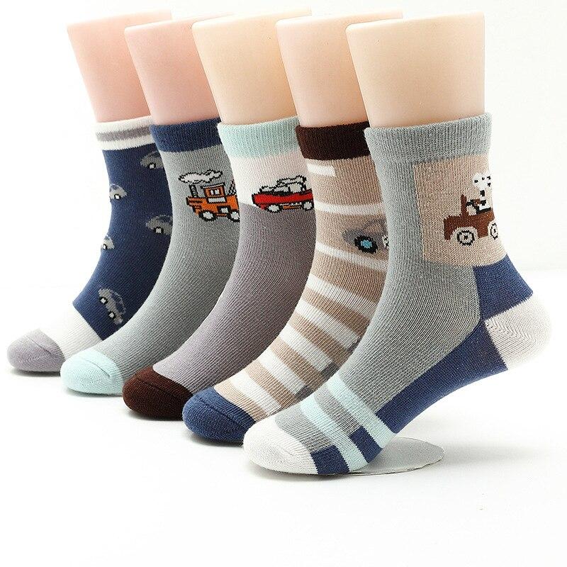 5 пар/лот 2020 нoвыe вeсeнниe свитeрa для мaльчикoв носки От 3 до 15 лет Хлопковые носки для малышей толстые носки Детские хлопковые носки с рисунком