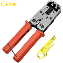 RJ45 Crimp Tool  3-In one Rj11 Rj12 RJ9 Crimper for Crimping RJ-45 Connectors  Telephone Crystal Head  Cut and Strip Cables