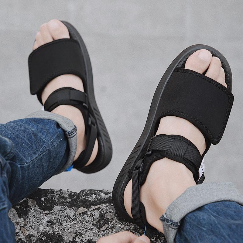 Summer Mens Sandals Breathable Comfort Slip On Open Shoes Sandalias Hombre Casual Shoes Men Zapatilla Plataforma De Verano 2020