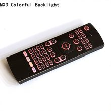 White MX3 Backlight Air Mouse Portable 2.4GHz Wireless Keyboard Remote Control IR Learning Fly Air Mouese For Smart Tv Box PC(China)