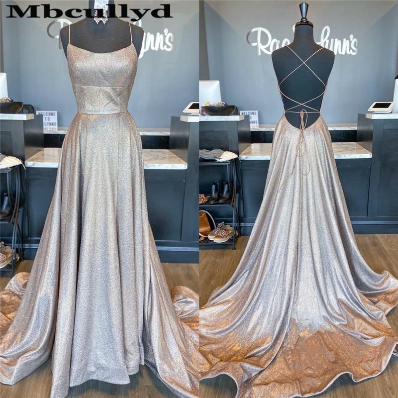 Mbcullyd Cross Backless Prom Dresses Long 2020 Chic Halter Neck Formal Evening Dress For Women New Plus Size Vestidos De Fiesta