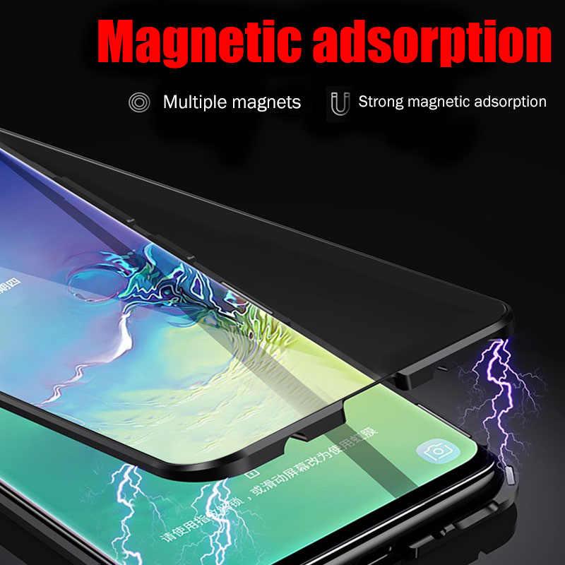 Manyetik adsorpsiyon darbeye dayanıklı samsung kılıfı Galaxy A50 A70 A40 A20 A10 A30 A7 2018 S8 S9 S10e not 10 9 8 artı arka kapak