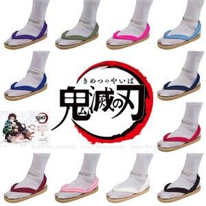 Image 1 - Anime Cosplay Kamado Nezuko Geta takunya iblis avcısı Kimetsu hiçbir Yaiba sandalet ayakkabı Kamado Tanjirou Agatsuma Zenitsu Flip flop