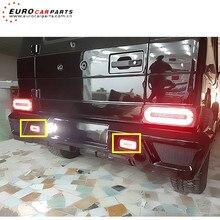 W463 amortecedor traseiro luz para mb G-CLASS w463 g450 g500 g550 g55 g63 refletor traseiro lâmpada pára-choques vermelho e preto
