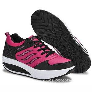 Image 4 - COWCOM chaussures de sport en cuir pour femmes, chaussures de sport et automne CYL 875