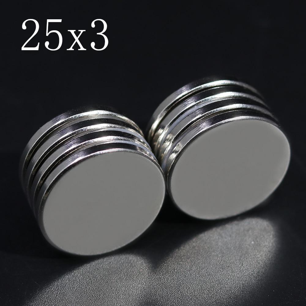 2/5/10/20 шт. 25x3 неодимовый магнит с фокусным расстоянием 25 мм x 3 мм N35 неодим-железо-боровые виток супер мощный сильный постоянный магнетический...