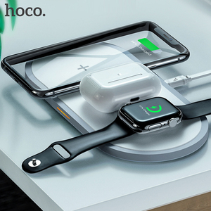 Image 2 - HOCO 3in1 Wireless Charger for iphone 11 Pro X XS Max XR for Apple Watch 5 4 3 Airpods Pro QI Fast Charger Stand For Samsung S20