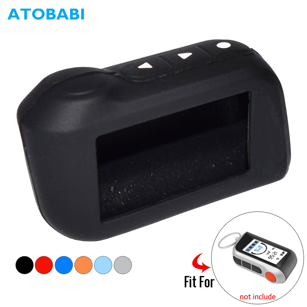 ATOBABI Silicone Key Case For StarLine A39 A96 A93 A36 A63 2-Way Car Alarm System LCD Silica Gel Remote Control Keychain Cover