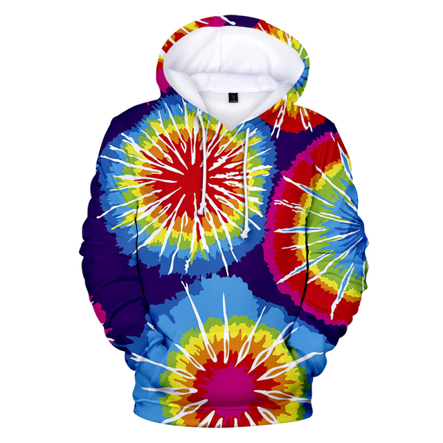 New 3D Tie Dye Hoodie Men / Women Spring Clothes Oversize Sweatshirt Men's Clothing Harajuku Pullover Hoody Print Casual Hooded 2
