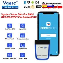 Vgate Vlinker Bm + Elm 327 Bluetooth 4.0 V2.2 Voor Bmw OBD2 Scanner Wifi Obd 2 Auto Diagnostische ELM327 Auto tool Voor Bmw Bimmercode
