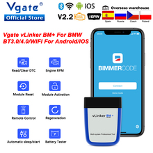 Vgate vLinker BM+ ELM 327 Bluetooth 4.0 V2.2 For BMW OBD2 Scanner wifi OBD 2 Car Diagnostic ELM327 Auto Tool For BMW Bimmercode