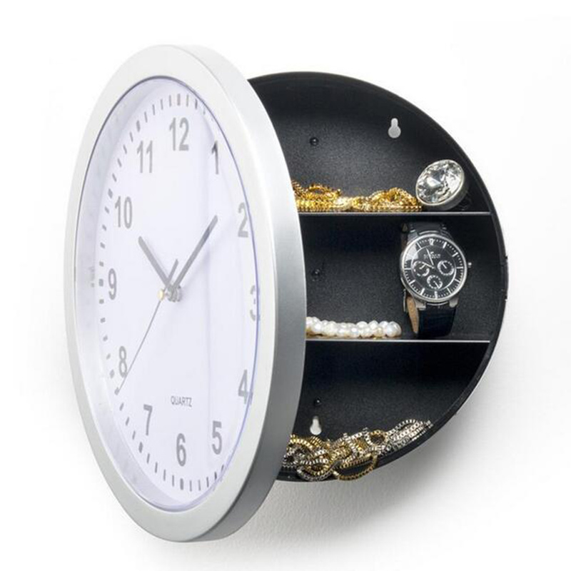 Safe-Box Storage Wall-Clock Hanging-Key Home-Decor Hidden-Secret Creative Jewelry Cash-Money title=