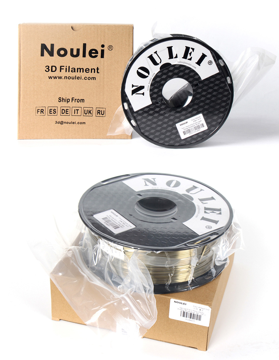Noulei Silk Texture PLA 3D Printer Filament for Excellent Glossy Printing