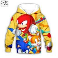 Kinder Tuch Anime Super Sonic Cartoon 3d hoodies/t-shirt/jungen sweatshirt Cartoon Heißer Film hose stil-18