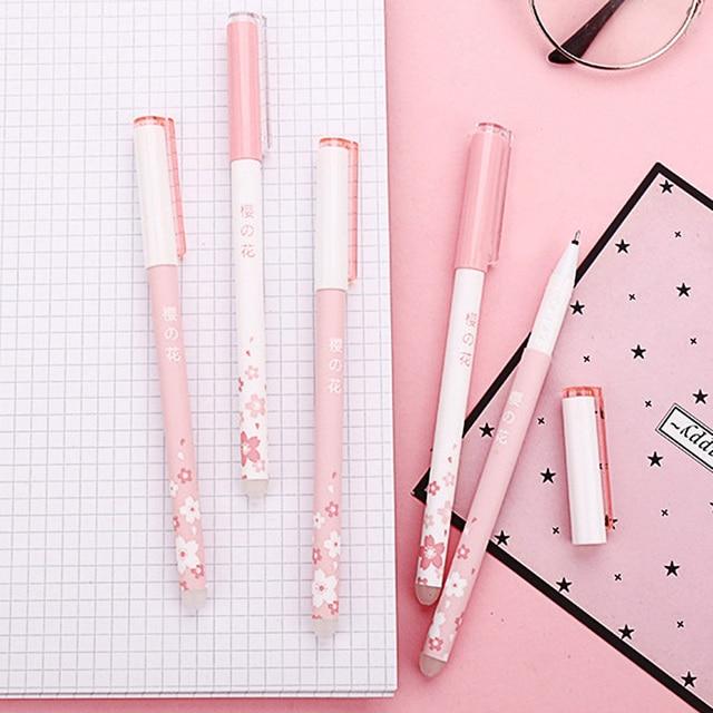 1PC mignon effaçable stylo 0.5mm créatif chat stylos à bille Kawaii sirène stylo à bille pour enfants filles école bureau fournitures papeterie