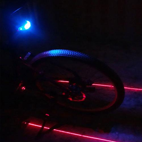 Bicycle Rear Light Safety Warning Light Bike Lights LED Bike Tail Light 5 LED+2 Lasers Bicycle Lights Cycling Accessories Lamp