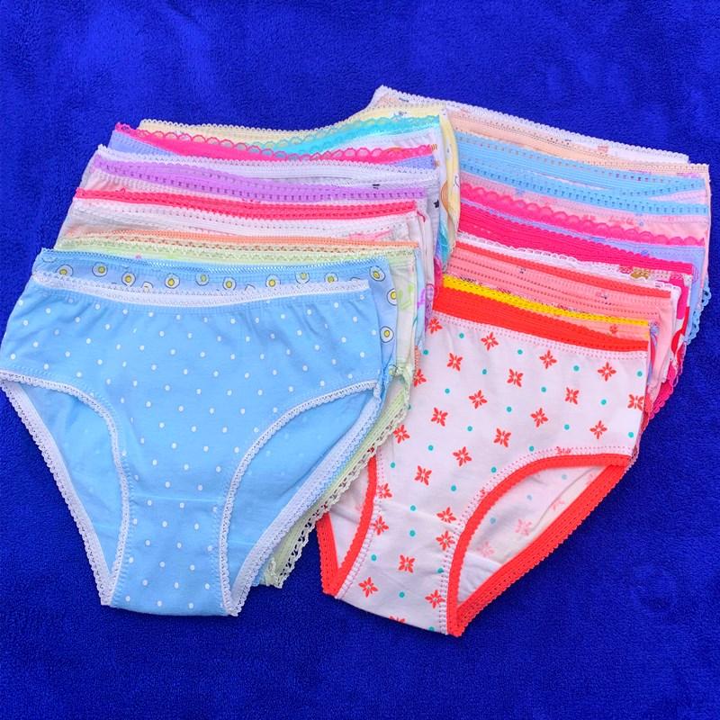 12pcs /Lot Baby Girls Briefs  Cartoon Underwears Children Panties  Short Underpants Kids for 1-12 Years