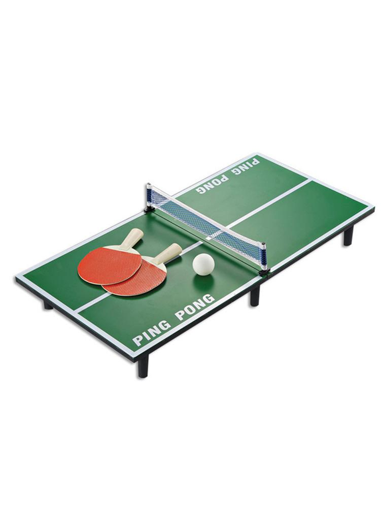 US $31.78 27% OFF|Mini Ping Pong Table Tennis Table Set Wooden Children's Educational Toys Mini Tennis Table Training Tool Children Perfect Gift in