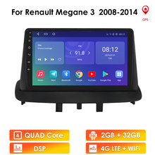Автомагнитола для Renault Megane 3 2008-2014, мультимедийный видеоплеер, навигатор GPS, Android, 2din, 2 din, dvd