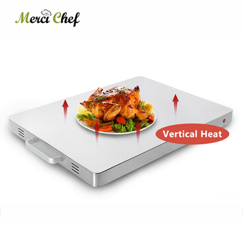 ITOP Electric 400W Food Heating Plate Warming Tray Stainless Steel Surface Commercial Buffet Food Warm Plate Machine 220V CE electric food warming display showcase hotdog warmer cabinet high quality food warming display case food heating show case