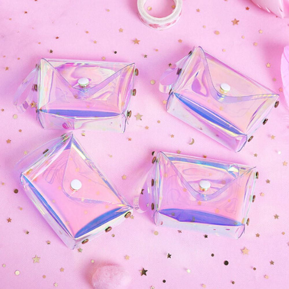 Fashion Transparent Jelly Coin Purse Letter Hasp PVC Card Bag Milkjoy Three Layer Case Soft New Girl Money Bag Square Coin Purse
