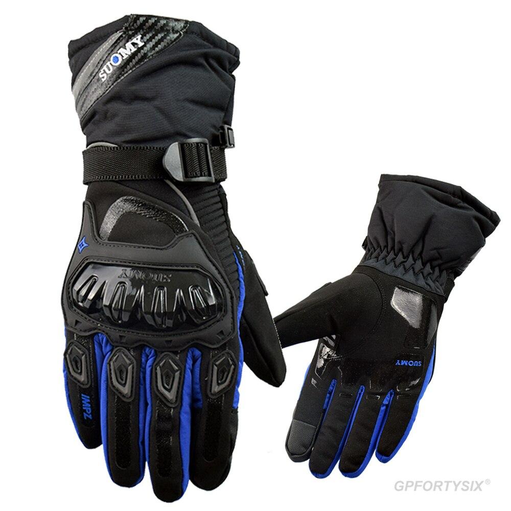 SUOMY 100% водонепроницаемые мотоциклетные перчатки, зимние теплые защитные перчатки для мотоцикла, перчатки для езды на мотоцикле с сенсорным ...