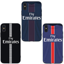 MA Football France PSG Jersey Style Soft Silicone Phone Case Cover For Iphone 5 5S SE 6 6S 7 8 Plus X XS XR XS 11 Pro Max Case(China)