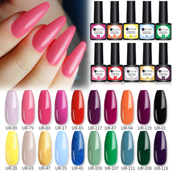UR SUGAR 10/20pcs/Lot Gel Nail Polish Set 122 Colors Glitter Color Semi Permanent UV Led Gel Varnish Soak Off Nail Lacquers 2