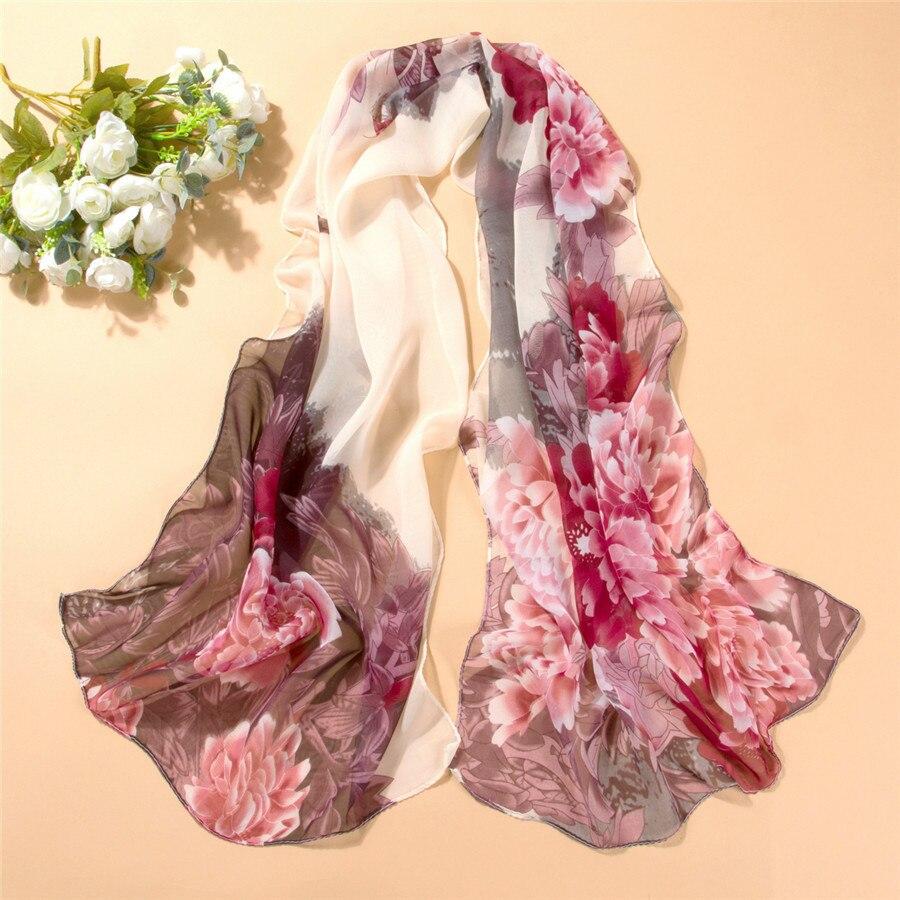 New Arrival Spring And Autumn Chiffon Women Scarf Print Geometric Pattern Design Long Soft Silk Shawl