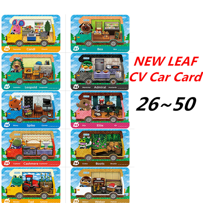 26-50 Animal Crossing <font><b>Amiibo</b></font> CV Car <font><b>Card</b></font> New Leaf Welcome <font><b>Amiibo</b></font> Car <font><b>Card</b></font> <font><b>NFC</b></font> For <font><b>Switch</b></font> game <font><b>card</b></font> image