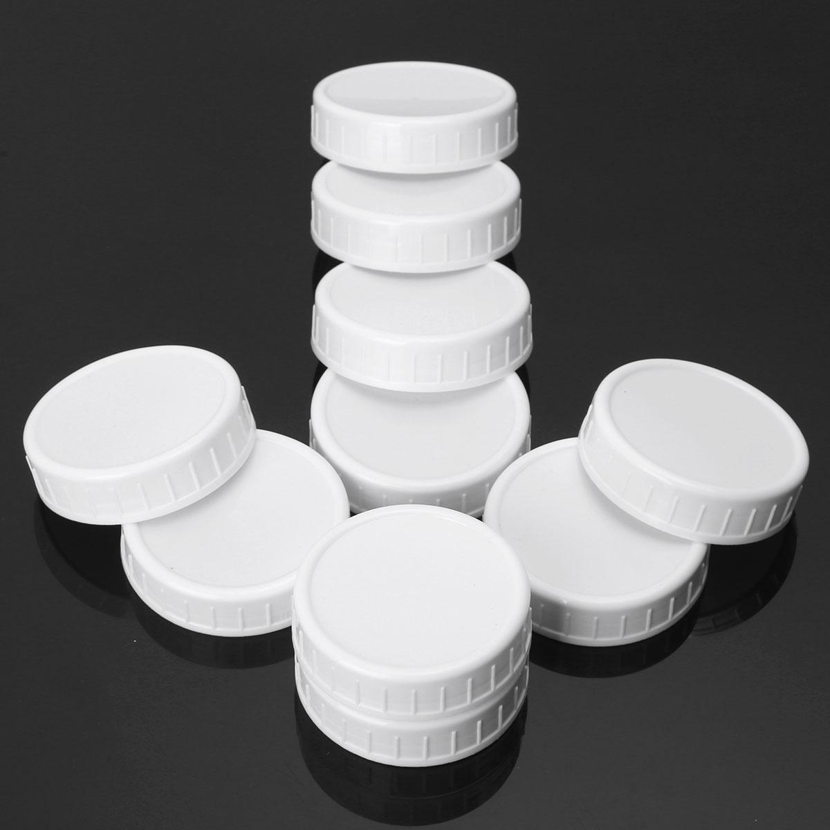 Couvercles en plastique côtelés non doublés de couvercles de pot de maçon de 70mm/86mm pour la bouche régulière