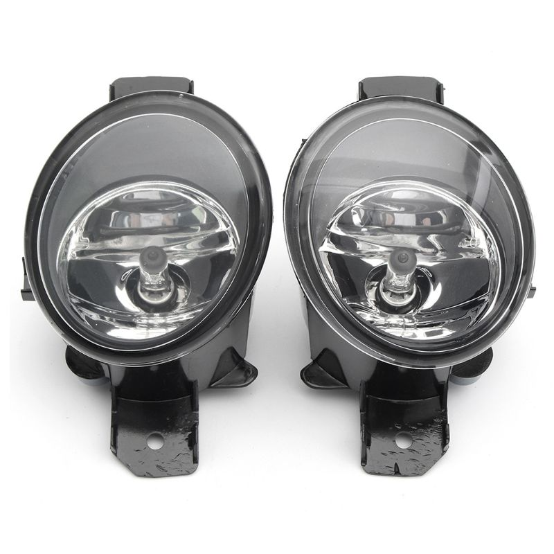 1 Pair RH LH Fog Lights w H11 Bulbs For Nissan Altima Maxima Rogue Sentra Clear