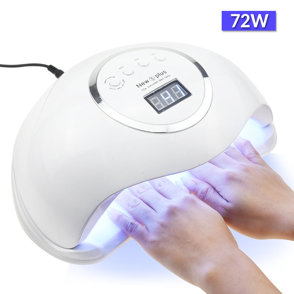 UV Lamp 72W New5 PRO LED Nail Lamp For Manicure Two Hand Lamp 36 Pcs Led Beads Nail Dryer For Curing Nail Gel Nail File Tools
