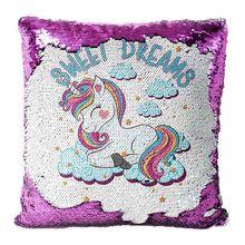 UNICORN Sequin Cushion Cover Magic Reveal Home Decor Sequins Mermaid Pillow Cover mermaid magic
