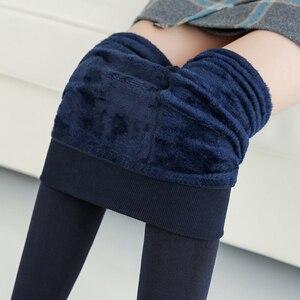 Image 5 - NORMOV vrouwen Warm Leggings Hoge Taille Elastische Dikke Fluwelen Leggings Legins Fitness Solid Slim Legging Vrouwelijke Plus Size