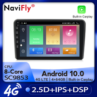 NaviFly Car Radio Multimedia video player GPS navigation Android 10.0 4GB+64GB for Audi A3 8P S3 2003 2012 RS3 Sportback