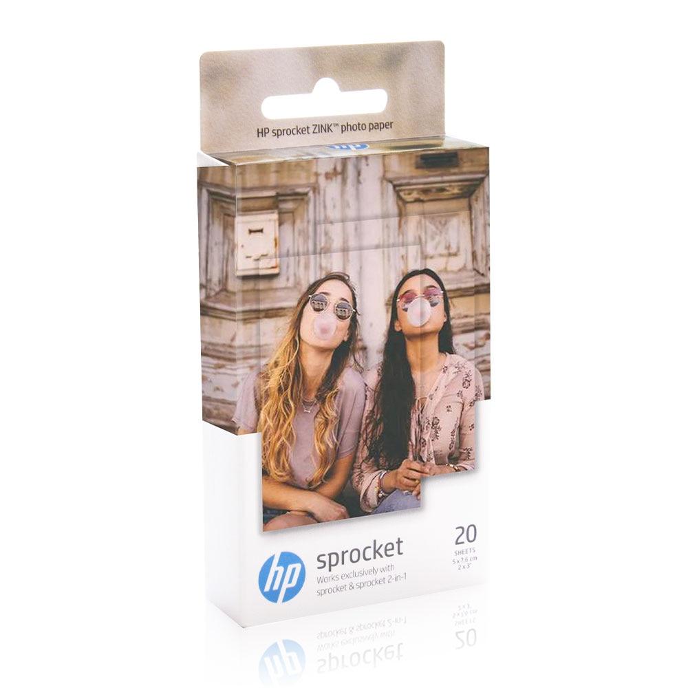 Topcolor HP dişli kağıt ZINK fotoğraf kağıdı 20 sheets HP dişli 2 in 1 fotoğraf yazıcı 5*7.6cm Mini cep fotoğraf kağıdı
