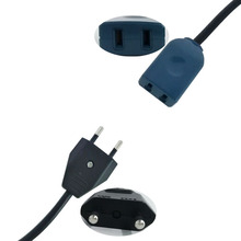 2Pin European EU Plug to USA Socket Power Adapter Cable Exte