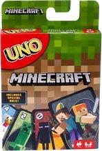 Карточная игра Mattel Games UNO Minecraft, теперь UNO fun включает в себя майнкрафт, многоцветный, Базовый костюм